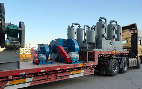 12 sets of 12TPD waste tyre pyrolysis plant were delivered to Germany