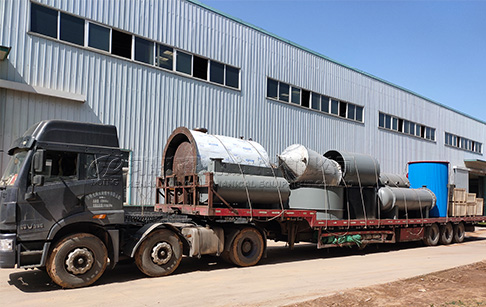 5TPD tyre oil to diesel plant shipped to Burkina Faso
