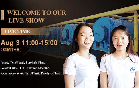 Live show about continuous tyre/plastic pyrolysis plant