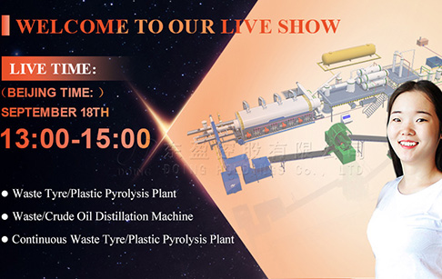 Live playback of continuous pyrolysis plant manufacturing workshop