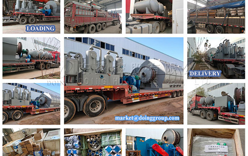 12 sets 12TPD waste tyre pyrolysis oil plant sent to Guangxi, China