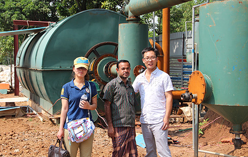Waste tyre to fuel oil pyrolysis plant project in Bangladesh