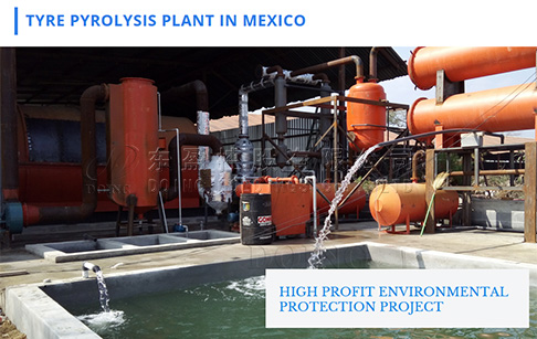 10T continuous waste plastic pyrolysis plant installed in Monterrey, Mexico