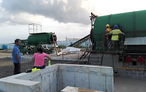 Waste tire/tyre recycling pyrolysis machine project in Panama