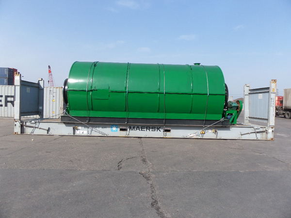 One set waste tyre pyrolysis machine ship to Panama