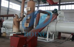 Fully automatic continuous waste tyre pyrolysis plant with PLC