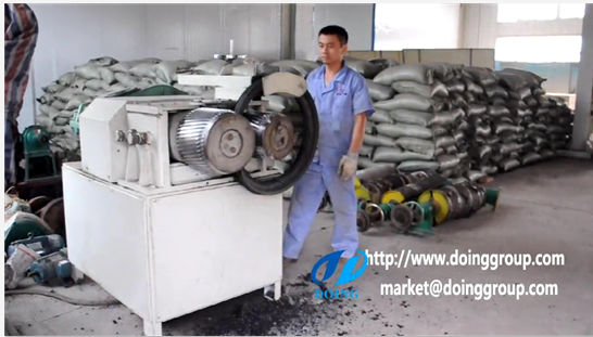 Tire steel wire rolling separator running