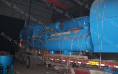 To deliver 10T capacity waste tire to oil machine to Vietnam
