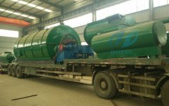 Pyrolysis plants and oil refining machine deliverred to Columbia