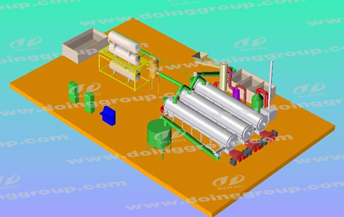 automatic recycling oil plant