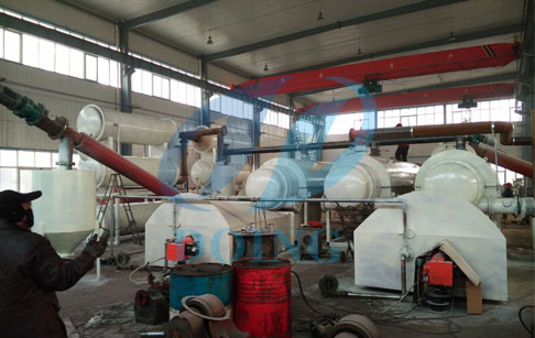 recycling tyre oil plant