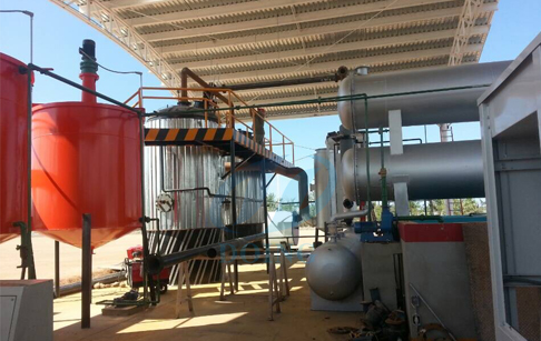 crude oil distillation plant