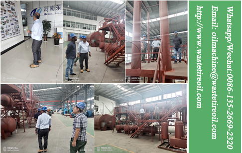 DoingGroup news from customer vistiong continuous pyrolysis plant